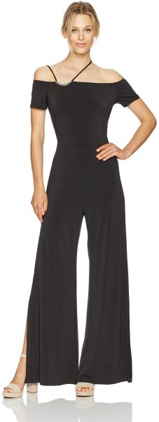 a09f9b762094 GUESS Women s Short Sleeve Veronica Strappy Jumpsuit
