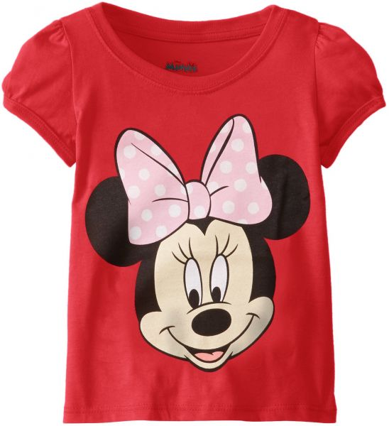 2d84a79f2a002 تي شيرت للفتيات مرسوم عليها Minnie Mouse من Disney - Minnie Mouse Tee 5 Red  Cherry