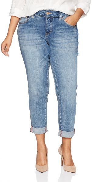 c1e79879e8f Jag Jeans Women s Plus Size Carter Girlfriend Jean