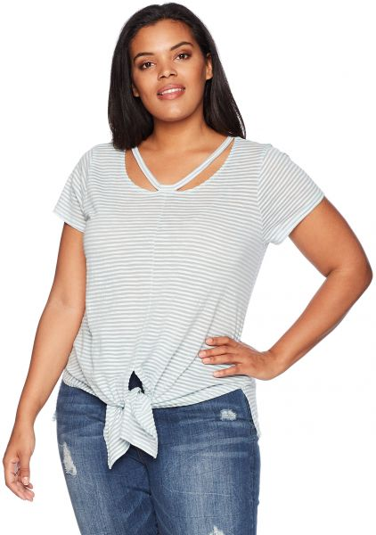 081ff1c58dc63 Lucky Brand Women s Plus Size Shadow Stripe Tee