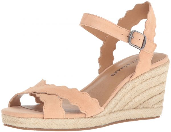 002267900 Lucky Brand Women's Marleigh Espadrille Wedge Sandal, Amber Light, 9.5 M US  | KSA | Souq