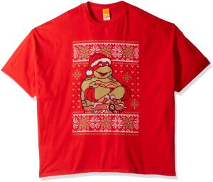 b287ffacb6fb0 Nickelodeon رجالي كبير وطويل raphael Ugly Christmas تيشيرت B   T - Raphael  Ugly Christmas T-shirt B t XX-Large Red