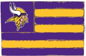 Rustic Marlin Designs NFL Minnesota Vikings Team Flag Sign 7d4f1f205