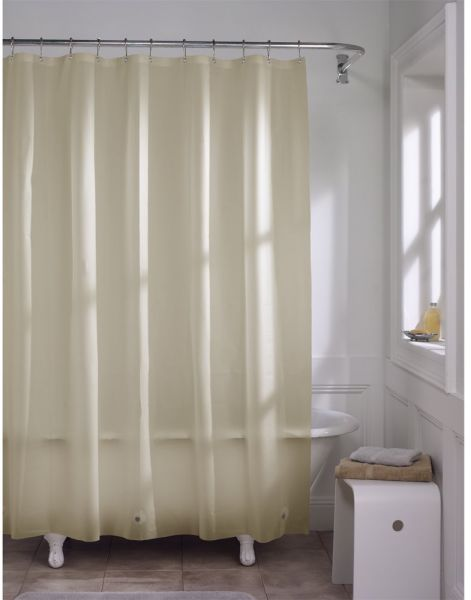 MAYTEX Softy EVA Shower Curtain Liner Odorless No PVC 70 Inches X 72 Beige