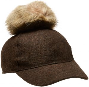 Nine West Women s Baseball Cap with Faux Fur Pom 71792a8caa37