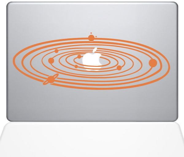 "The Decal Guru 2067-MAC-13P-P Solar System Decal Vinyl Sticker, 13"" MacBook Pro ‫(2015 & Older), Orange"