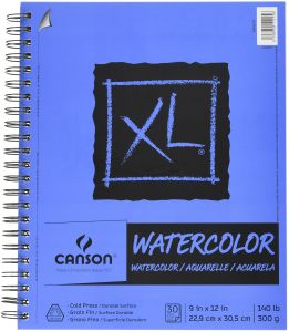 5.5 x 8.5 Inch 70 Pound 30 Sheets Canson Foundation Drawing Paper Pad with Micro-Perforated Sheets and Fine Texture Top Wire Bound