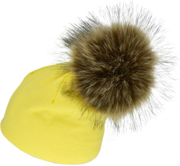 ed3f48ef21f Solid Cotton Newborn Hat Faux Fur Baby Cap Pompom Bobble Hat For Kids Winter  Boys And Girls Caps mm