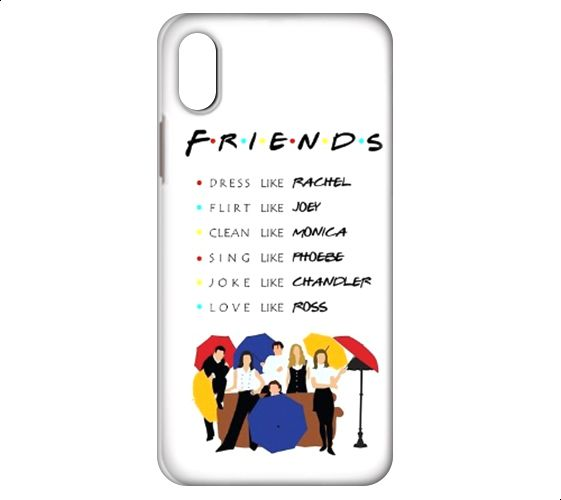 buy online 0ea64 75b87 Friends Back Cover For Apple Iphone Xs - Multi Color