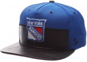 hot sale online efda7 86c3d Zephyr NHL New York Rangers Men s Anarchy Snapback Hat, Adjustable, Gray  Black