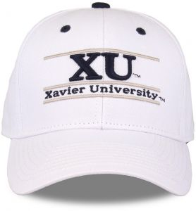 huge discount 8fbcf 5a493 The Game NCAA Xavier Musketeers Unisex NCAA bar Design Hat, White,  Adjustable
