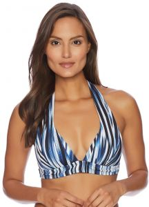 b8c9e601a7 Athena Women s Blue Horizon Molded Cup Halter Swimsuit Bikini Top