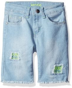 a59d078ace kensie Big Girls' Casual Short (More Styles Available), 2943 Light Blue  Denim, 8