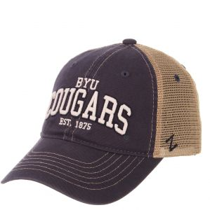 lowest price f398d 76793 Zephyr NCAA Byu Cougars Men s Institution Relaxed Cap, Adjustable, Navy
