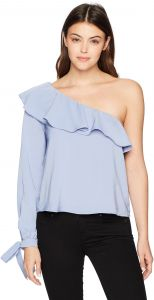 6f8d9d709da215 JOA Women s Sleeve Tied Off The Shoulder Top