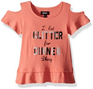 6cec6bbedb9 DKNY Big Girls  Short Sleeve T-Shirt
