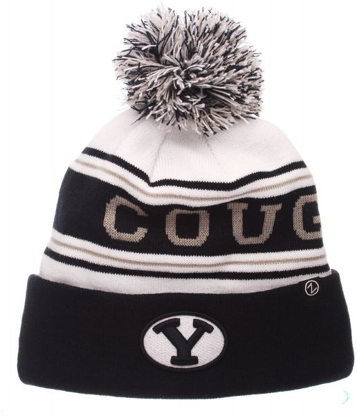 02c5972a70f Zephyr NCAA BYU Cougars Adult Men Finish Line Arctic Beanie ...