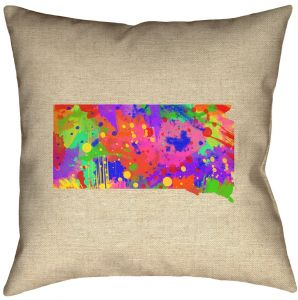 ArtVerse Katelyn Smith 26 x 26 Poly Twill Double Sided Print with Concealed Zipper /& Insert Rhode Island Outline Pillow
