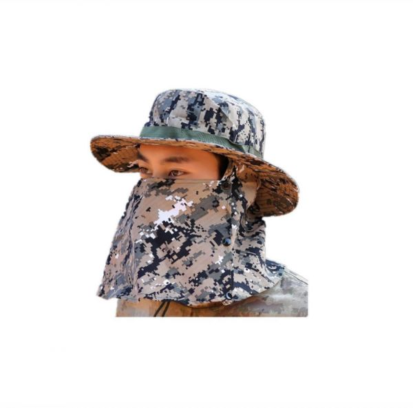 0ee01f97239 Camouflage Outdoor Sport Hiking Visor Hat UV Protection Face Neck Cover  fishing Sun Protect Cap Best Quality