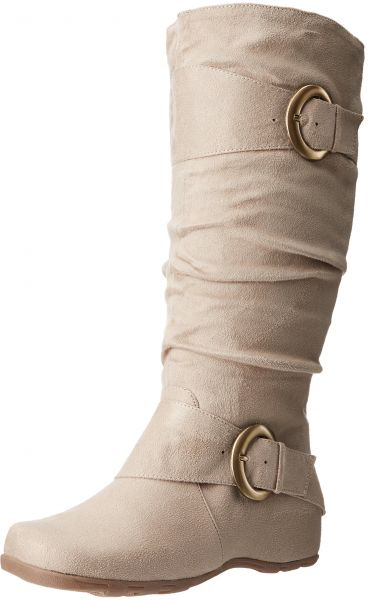 Brinley Co Women S Augusta 02wc Slouch Boot Stone Wide Calf 9 5 M Us Souq Uae