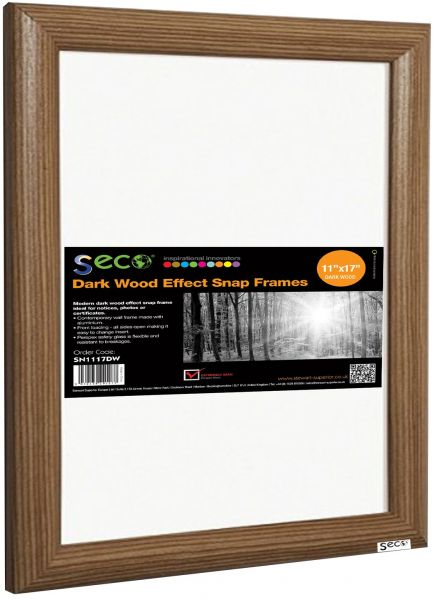 Seco Front Load Easy Open Snap Frame Posterpicture Frame 11 X 17