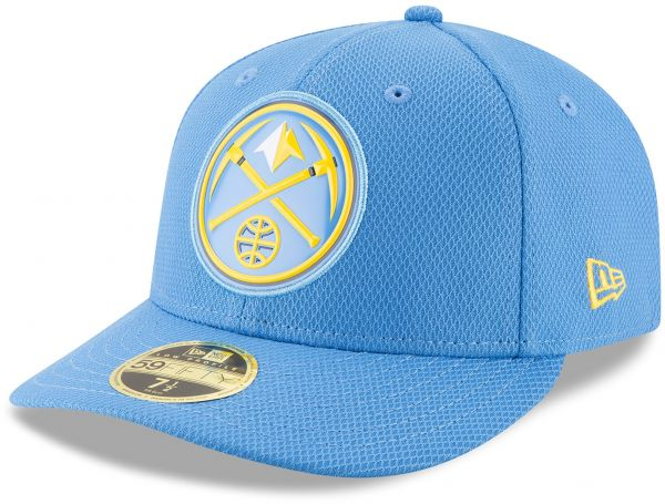 New Era NBA Denver Nuggets Adult Bevel Team Low Profile 59FIFTY Fitted Cap 538b146f3bc6