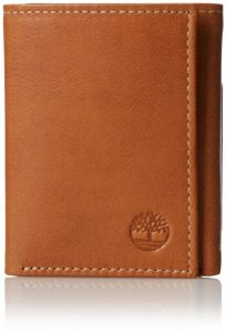 e7e11f3a06f92 Timberland Mens Leather Trifold Wallet With ID Window