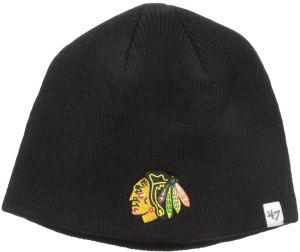 wholesale dealer be2d3 63695 NHL Chicago Blackhawks Infant Beanie Knit Hat, One Size, Black