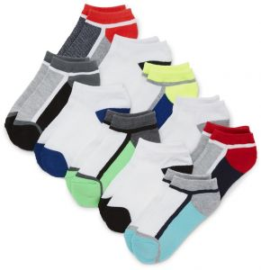 Multi CLR M 1-2 The Childrens Place Big Boys 6 Pack Novelty Printed Ankle Socks