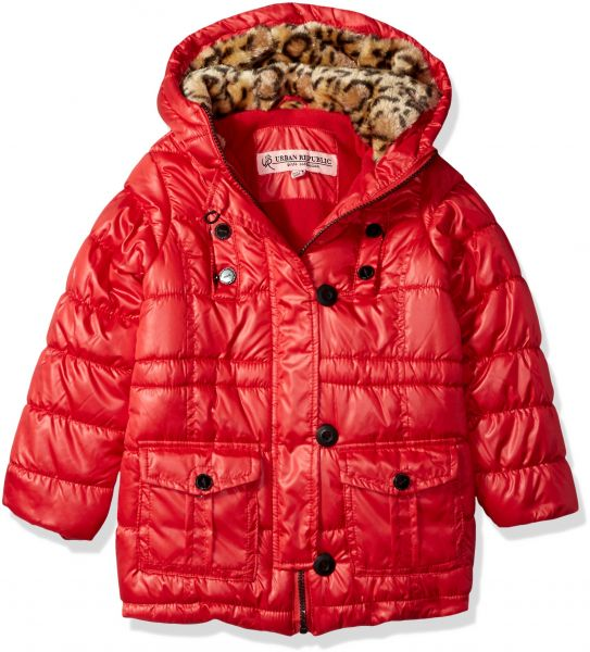 8647a3739 Urban Republic Little Girls  Long Puffer Jacket