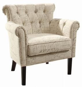 Awe Inspiring Homelegance Barlowe Fabric Flared Accent Chair Vintage Print Bralicious Painted Fabric Chair Ideas Braliciousco