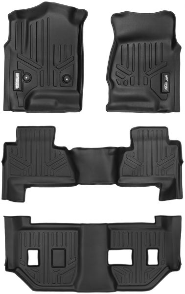 MAXFLOORMAT SMARTCOVERAGE Premium Floor Mats 3 Row Set Black for 2015-2018 Chevrolet Suburban/GMC Yukon XL (With 2nd Row Bench Seat) | Souq - UAE