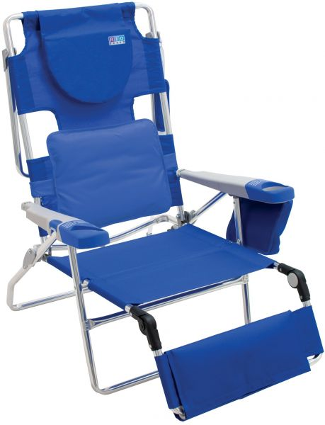 Rio Beach Face Opening Sunbed High Seat Chair Lounger Blue Souq Uae