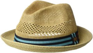 Bailey of Hollywood Men s Berle Fedora Trilby Hat with Striped Band 795ea059d608