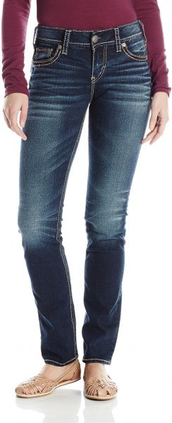 99d7074991 Silver Jeans Co. Women s Suki Curvy Fit Mid Rise Straight Leg Jeans ...