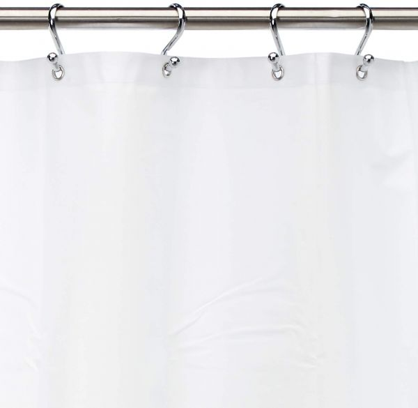 Carnation Home Fashions 10 Gauge PEVA 72 By 84 Inch Shower Curtain Liner X Long White