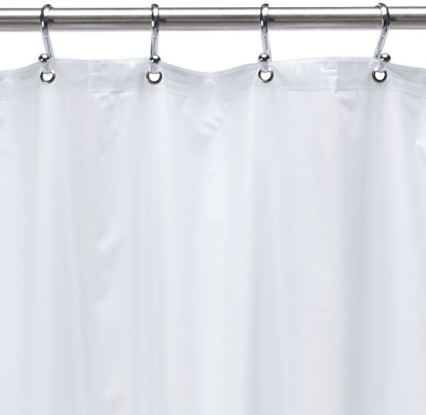 54 Inch By 78 Premium Weight Stall Shower Curtain Liner White
