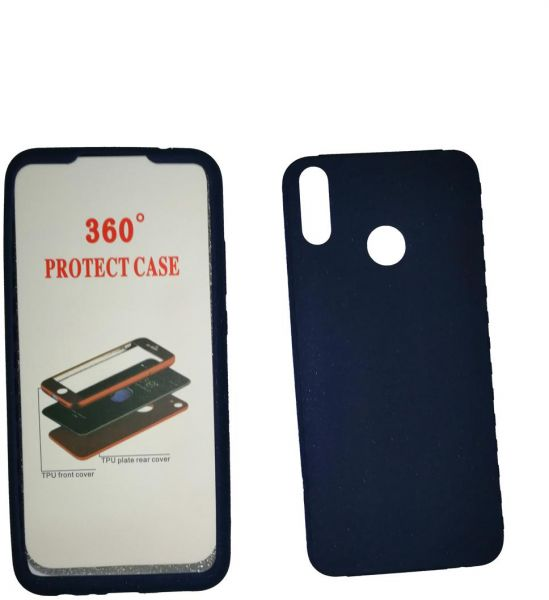 low priced fc80d 2477e Silicone Case 360 full 2 pieces for Huawei Y9 2019 , Navy