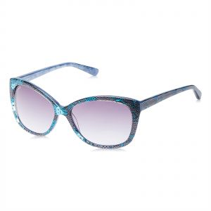 bf09a1d486b Bebe Women s Cat Eye Blue   Grey Acetate Sunglasses - BB7121-5816400