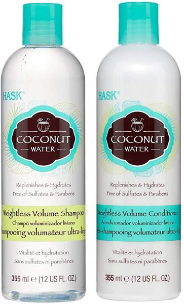 Hask Coconut Water Weightless Volume Shampoo 355ml And Conditioner