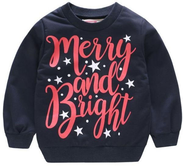 ea30c895 Christmas Sweater Boys Sweater Jacket Children Christmas Holiday Happy  Letters Clothes | Souq - UAE