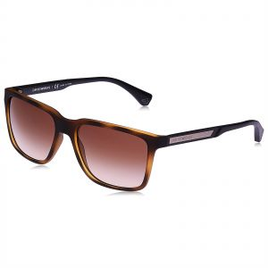 50a8aa3f009 Emporio Armani Square Sunglasses for Men - Brown Lens