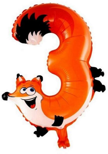 16 Inch Animal Digital Balloon 0 9 Digit Birthday Balloons Cartoon 3