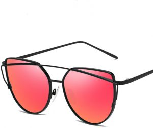 7662383728f95 Personality polarized sunglasses metal stylish glasses for ladies outdoor  UV protection high-definition sunglasses,red