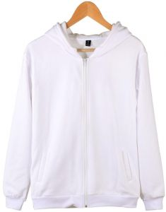 3e7d5a3eff8 Men and women couples cardigan men s large size solid color hooded jacket  white