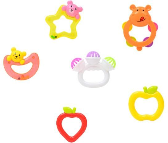 6 pcs Baby Rattles Teether Toys b3c31217f