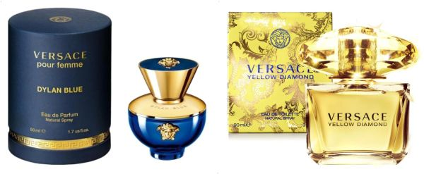 Dylan Blue By Versace Eau De Parfum 50 Ml With Yellow Diamond By