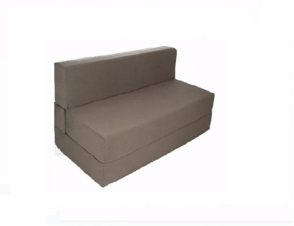 Sofa Bed Zen Single Sleeper Couch In Premium Upholstery Fabric Grey Folding Fold Out Foam 90 X 190 20 Cm