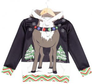 Boys CHRISTMAS SWEATER Vacation Santa Elf Funny Christmas Hoodie Sweaters  Jumper Autumn Winter Tops Clothing with Pocket 2a4d4dff8c47