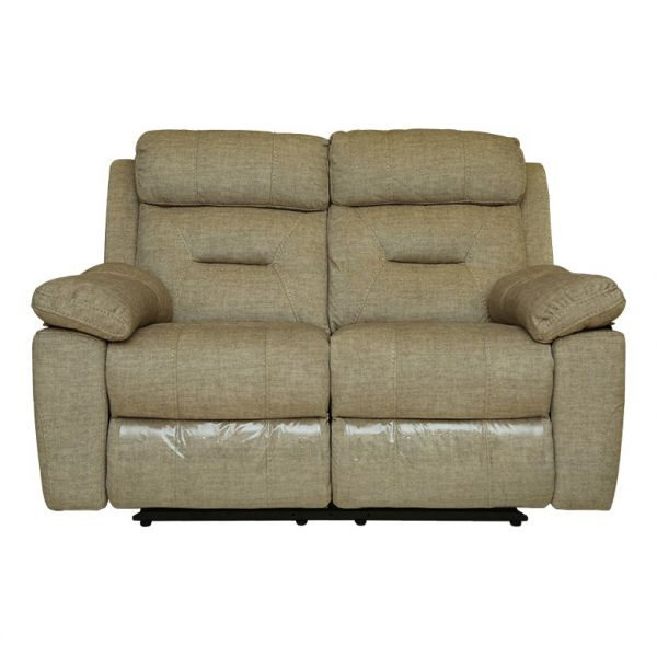 Pan Emirates Portland Two Seat Recliner Sofa Gold H100 Cm X W95
